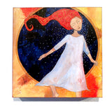autumn fall colors whimsical girl art