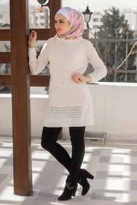 Long Elegant Blouse - knitted wool
