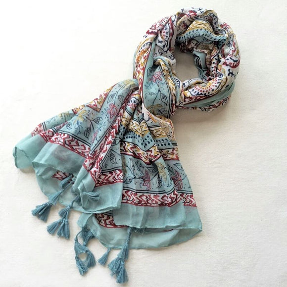 Hijab Scarf with Floral Print