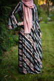 Maxi Summer Dress | Striped Pattern | Fully Lined from Inside