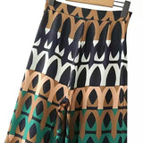 Vintage geometric print wide leg pants