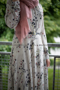 Elegant Maxi Summer Dress | Pink Dots Pattern | Fully Lined from Inside