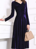 Velvet elegant midcalf dress