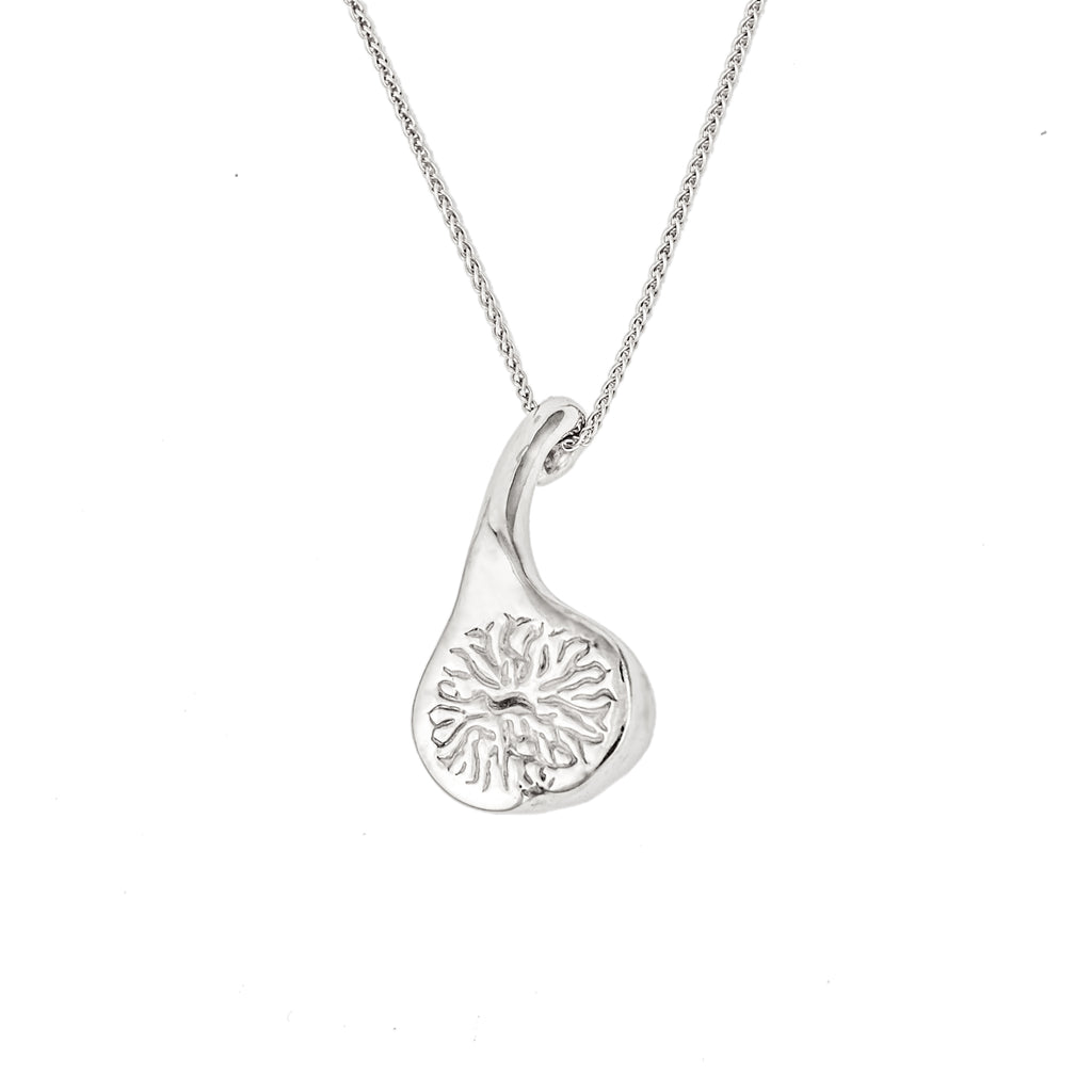 Baby Fig Pendant, Sterling Silver