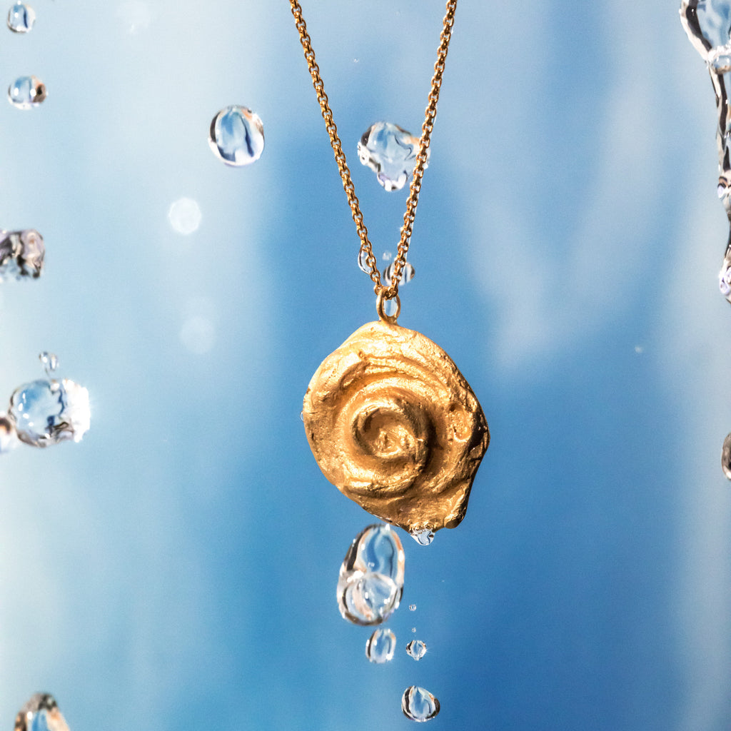The Little Whirl Pendant (22ct Gold Vermeil) Pascale James Jewellery