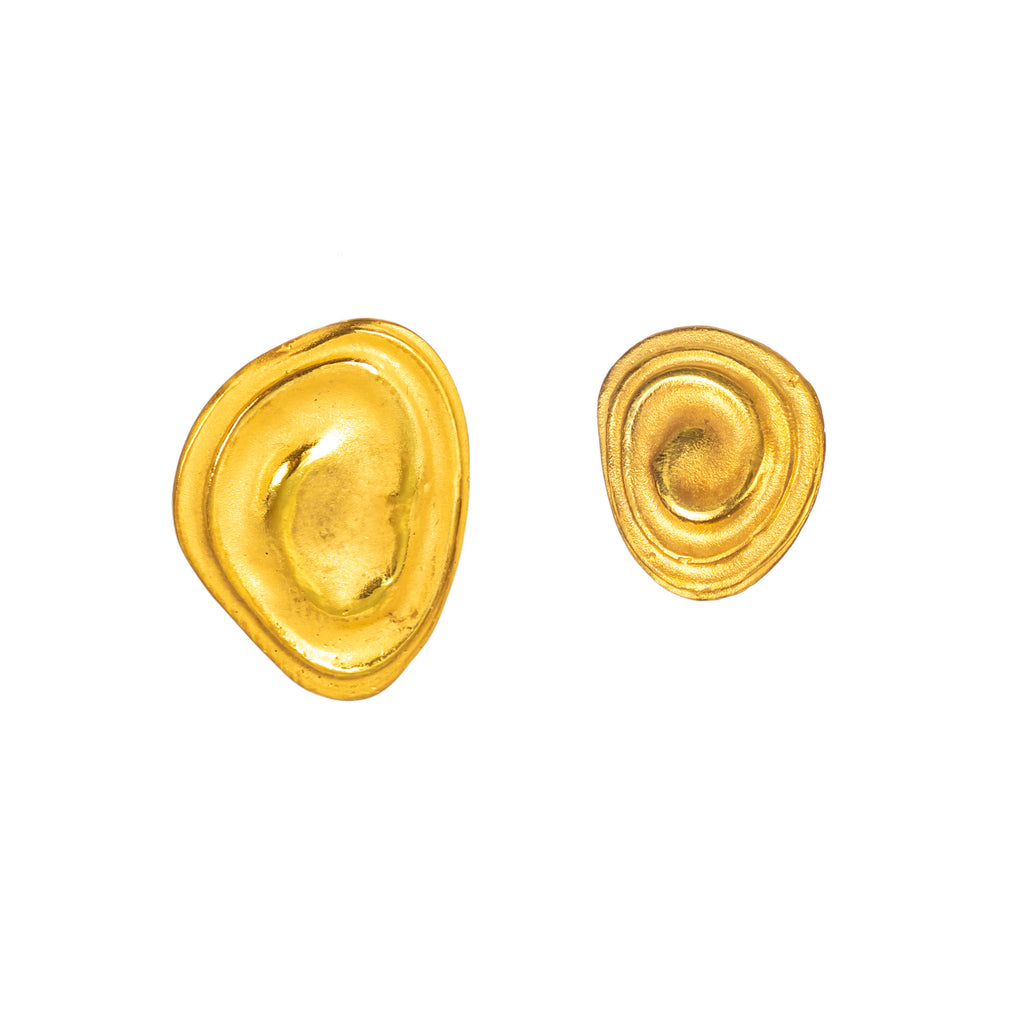 The Little Ripple Earrings (22ct Gold Vermeil) Pascale James Jewellery