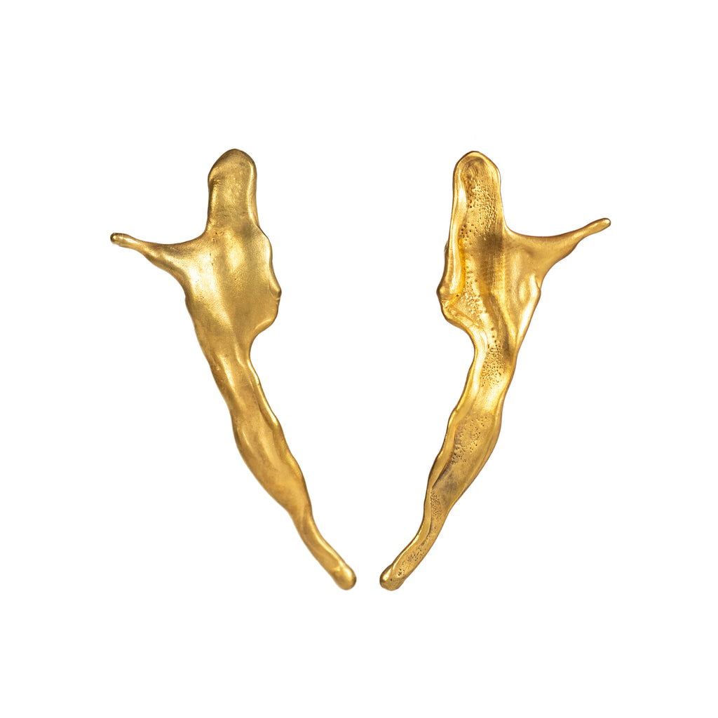 The Little Spray Earrings (22ct Gold Vermeil) Pascale James Jewellery