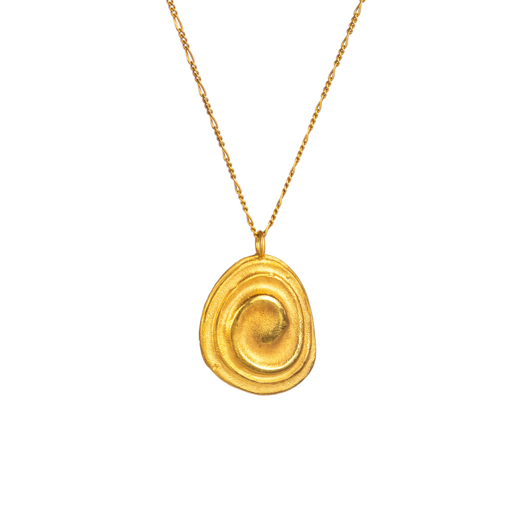 The Baby Ripple Pendant (22ct Gold Vermeil) Pascale James Jewellery