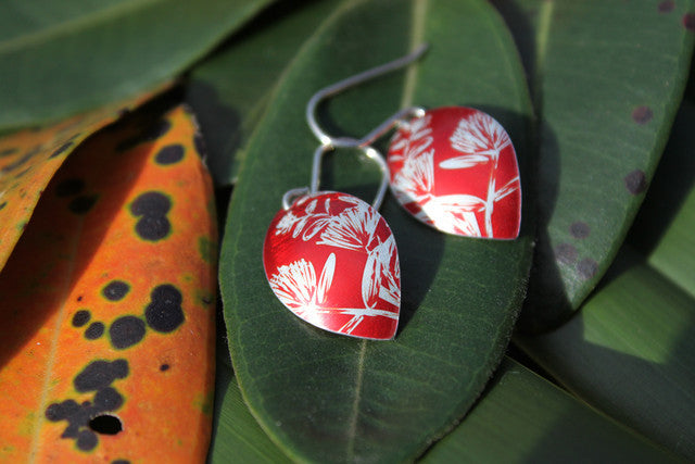 Pohutakawa Earrings - Red