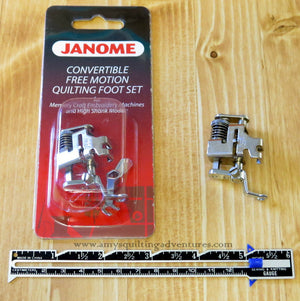 Janome Convertible Free Motion Quilting Foot Set (High Shank)