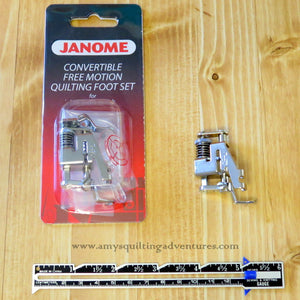 Janome Convertible Free Motion Quilting Foot Set (Low Shank)