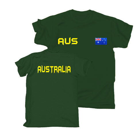 123t Australia Supporter T-Shirt, 123t Nation Shirts