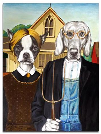 Courtney Kenny Porto - Dog Gothic - Watercolor Paper