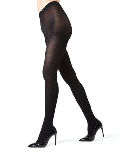MeMoi Black Speckled Fashion Tights | Women's Hosiery - Pantyhose - Legwear