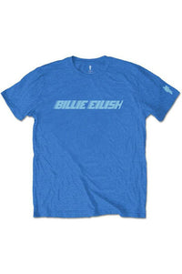 OFFICIAL Billie Eilish Blue Logo T-Shirt