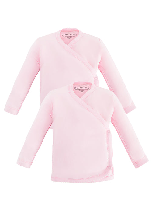 Long Sleeve Side Snap T-Shirt - Pink Value Pack