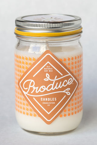 Produce Candles - Peach - Summer Seasonal Special