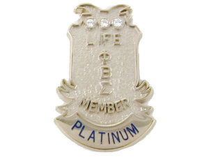 Platinum Level Life Member Pin (M)