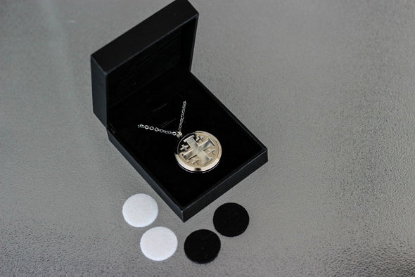 Stainless Steel Diffuser Necklace - Cross Locket - The Oil Collection - 2