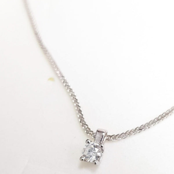 Beautiful delicate Diamond pendant with gold necklace, Diamond necklace