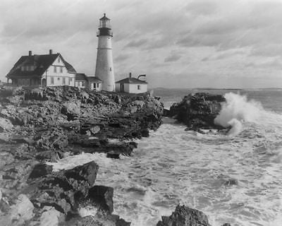 Lighthouse Portland Maine 1935 Vintage 8x10 Reprint Of Old Photo