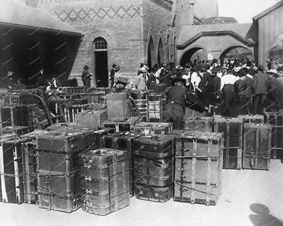 Luggage & Various Vintage Trunks Vintage 8x10 Reprint Of Old Photo