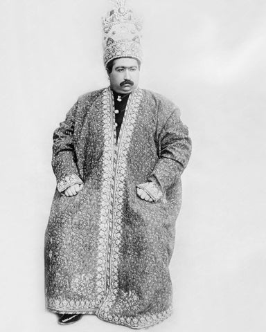 Shah of Persia Mohammed Ali Mirzi 1907 Vintage 8x10 Reprint Of Old Photo