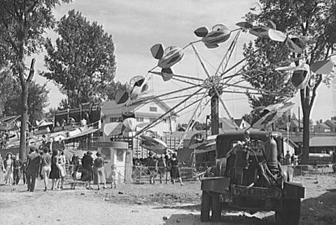 Vermont State Fair Scene 1940s 4x6 Reprint Of Old Photo