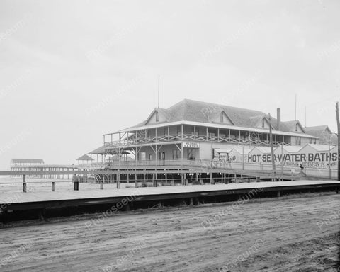 Wildwood Casino Hot Baths NJ 1915 Vintage 8x10 Reprint Of Old Photo