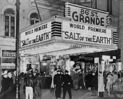 86th Grande Theatre Busy Entrance 1900s Vintage 8x10 Reprint Of Old Photo