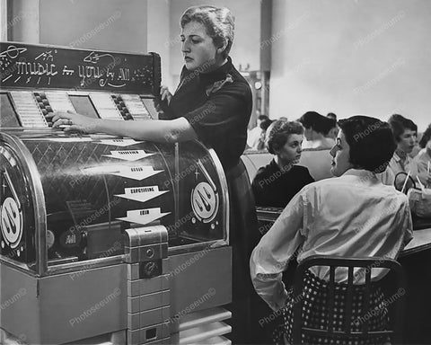 AMI Model D Jukebox Music For You 1951 8x10 Reprint Of Old Photo