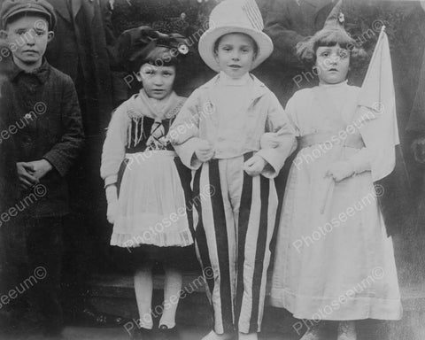 Vintage Children In Dress Up Costumes! 8x10 Reprint Of Old Photo