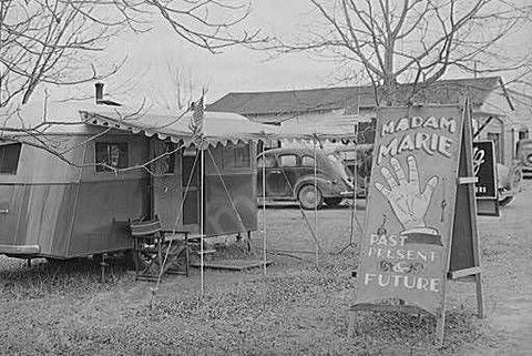 Alabama Fortune Teller Trailer 1940s 4x6 Reprint Of Old Photo