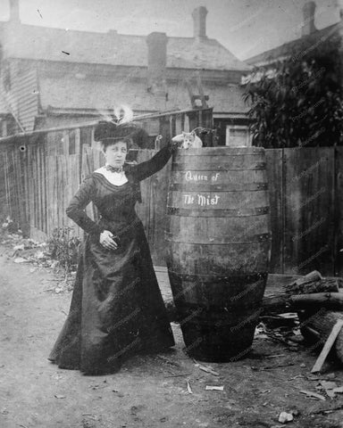 Anna Edson Queen Of The Mist wBarrel 8x10 Reprint Of Old Photo