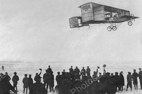 Antique Houdini Airplane Soars! 1900s 4x6 Reprint Of Old Photo