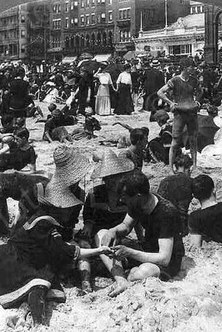 Atlantic City Beach Fortune Telling 1900s 4x6 Reprint Of Old Photo