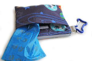 Outer Space Dog Treat Pouch & Bag Holder