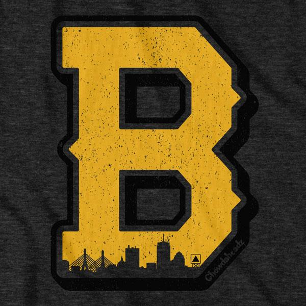 Black & Gold Big Block B T-Shirt - Chowdaheadz