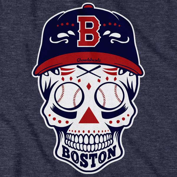 Boston Baseball Dead Head T-Shirt - Chowdaheadz