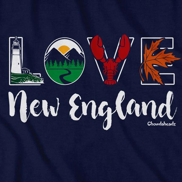 Lifestyle Love New England T-Shirt - Chowdaheadz