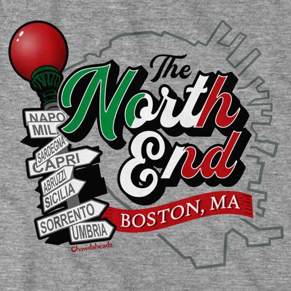 North End Boston, MA T-Shirt - Chowdaheadz