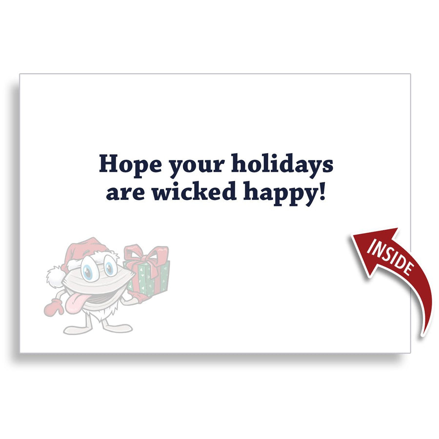 Happy Holidays Ducks 5x7 Greeting Card - Chowdaheadz