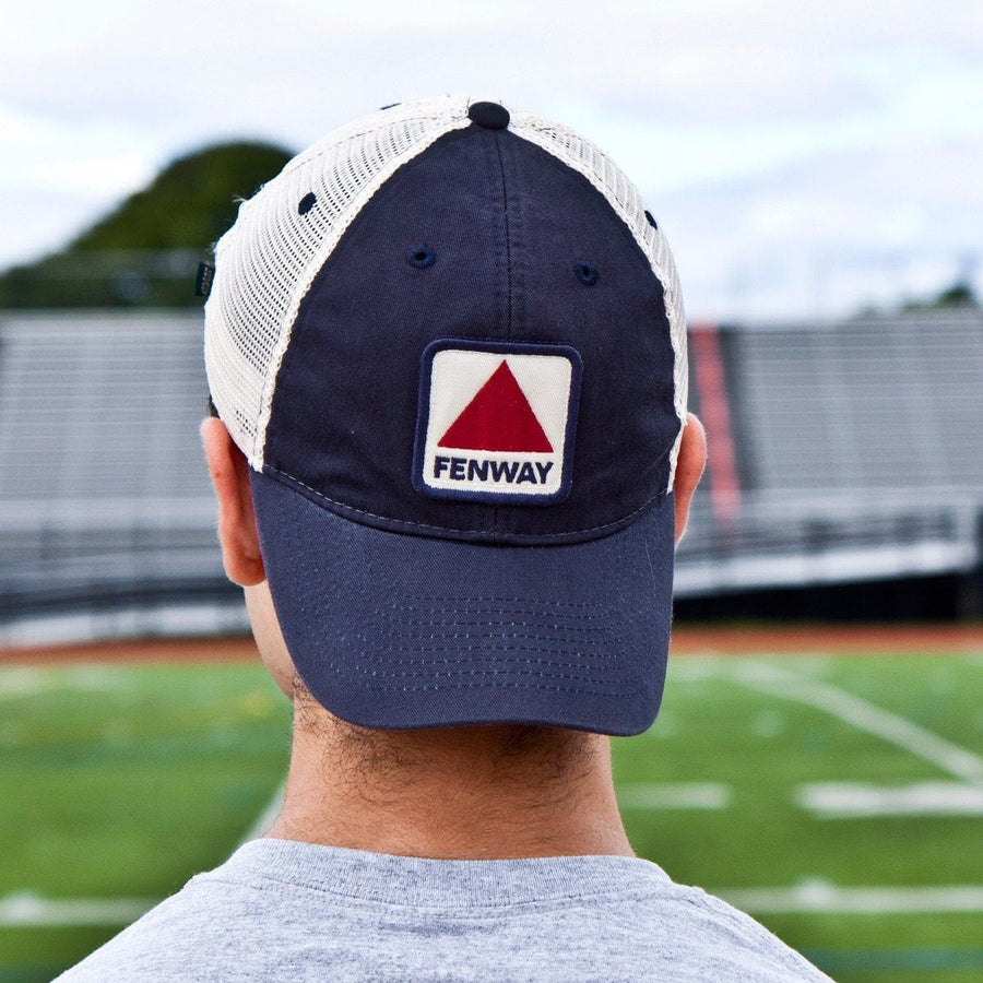 "Fenway Patch ""Townie"" Mesh Trucker Navy Hat - Chowdaheadz"