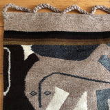 1980s Modernist Reptile Handwoven Tapestry