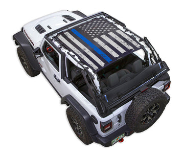 JL2D Tactical Flag Distressed Thin Blue Line