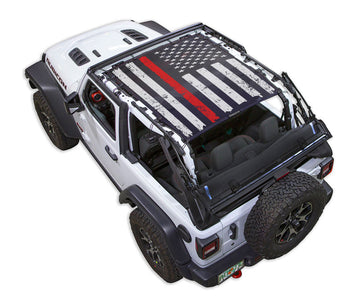 JL2D Tactical Flag Distressed Thin Red Line