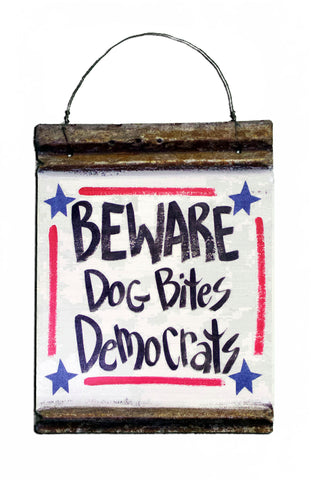 Beware!  Dog bites Democrats