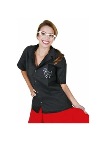 Adult 50s Poodle Blouse-COSTUMEISH