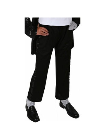 Adult King of Pop Black Tuxedo Pants-COSTUMEISH