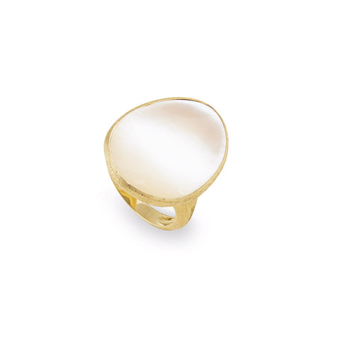 Lunaria 18K Yellow Gold White Mother of Pearl Cocktail Ring